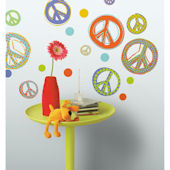 Mod Peace Signs Peel and Stick Wall Decal