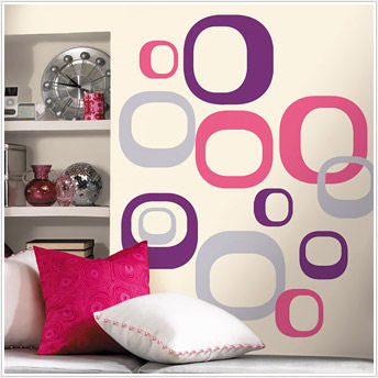 Modern Ovals Peel and Stick Wall Stickers - Wall Sticker Outlet