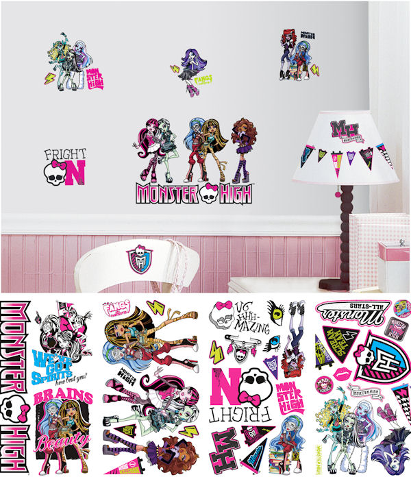 Monster High Peel and Stick Decals - Wall Sticker Outlet