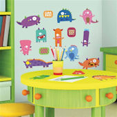 Monsters Peel and Stick Wall Stickers