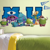 Monsters University Giant Character Collage Decals