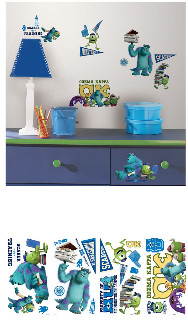 Monsters University Wall Decals - Wall Sticker Outlet
