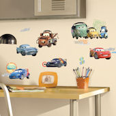 Disney Pixar Cars 2 Peel and Stick Wall Decals