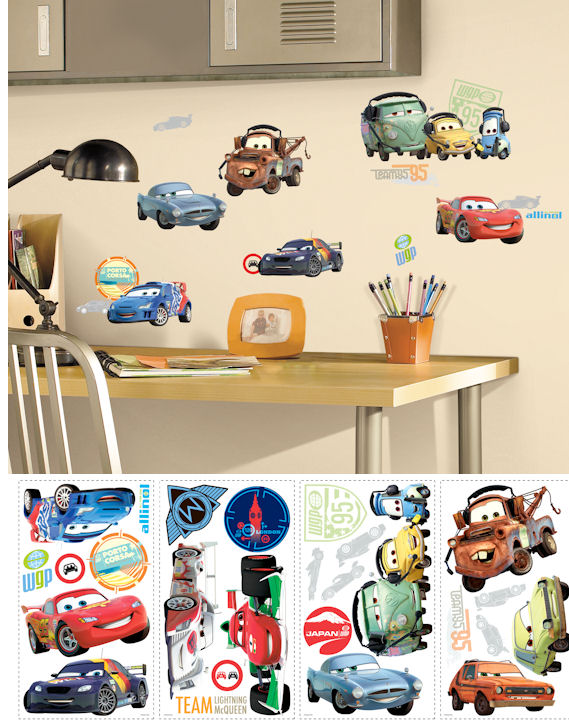 Disney Pixar Cars 2 Peel and Stick Wall Decals - Kids Wall Decor Store