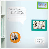 Notepad Dry Erase Wall Decals and Wall Frames