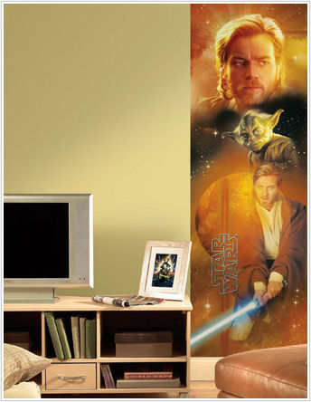 Star Wars Yoda and Obi-Wan Kenobi Wall Panel - Kids Wall Decor Store