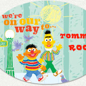 Sesame Street On Our Way Custom Wall Decal
