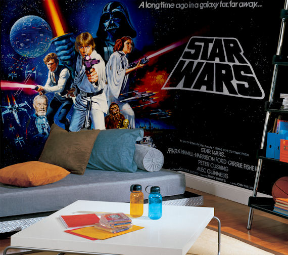 Full wall murals 2017 grasscloth wallpaper for Mural star wars