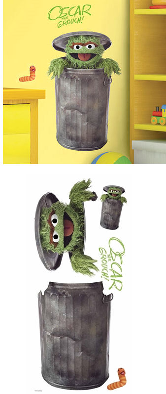 Sesame Street Oscar The Grouch Giant Wall Sticker