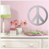 Peace Sign Peel and Stick Mirror SALE