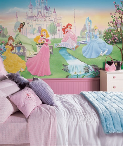 Dancing Princess XL Wall Mural 6 x10.5 ft - Kids Wall Decor Store