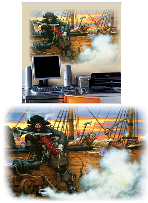 Pirates Giant Wall Decal - Wall Sticker Outlet