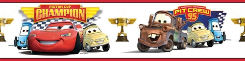 Disney Cars Piston Cup Champions Wall Border - Wall Sticker Outlet