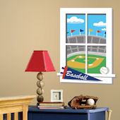 Play Ball Window Wall Sticker