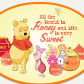 Winnie the Pooh Sweet Honey Wall Decal
