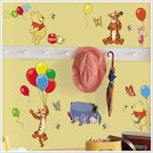Pooh and Friends Peel and Stick Wall Stickers