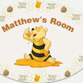 Disneys Pooh So Sweet Custom Name Wall Decal