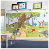 Pooh and Friends XL Wall Mural 6.5 x 10 Feet