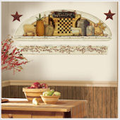Country Primative Arch Wall Sticker