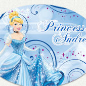 Disney Princess Cinderella Custom Name Wall Decal