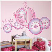 Disney Princess Carriage Giant Wall Sticker