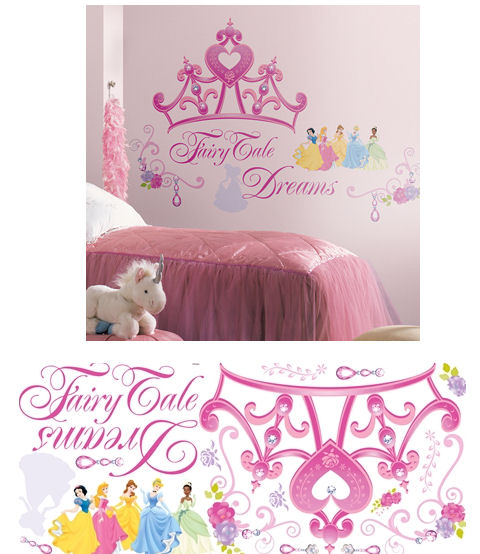 Disney Princess Crown Giant Wall Decals - Wall Sticker Outlet