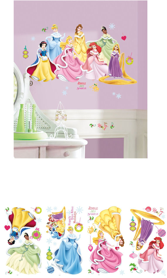 Princess wall stickers 2017 grasscloth wallpaper for Disney princess wall mural stickers