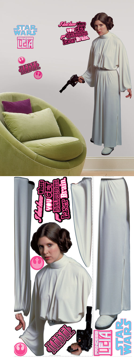 Star Wars Princess Leia Giant Wall Sticker - Wall Sticker Outlet