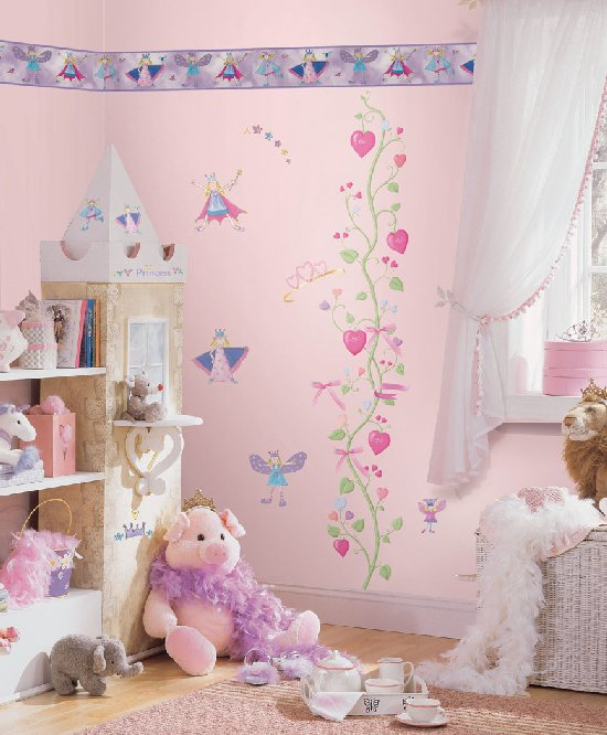 Fairy princess complete room wall sticker package kids for Fairy princess bedroom ideas