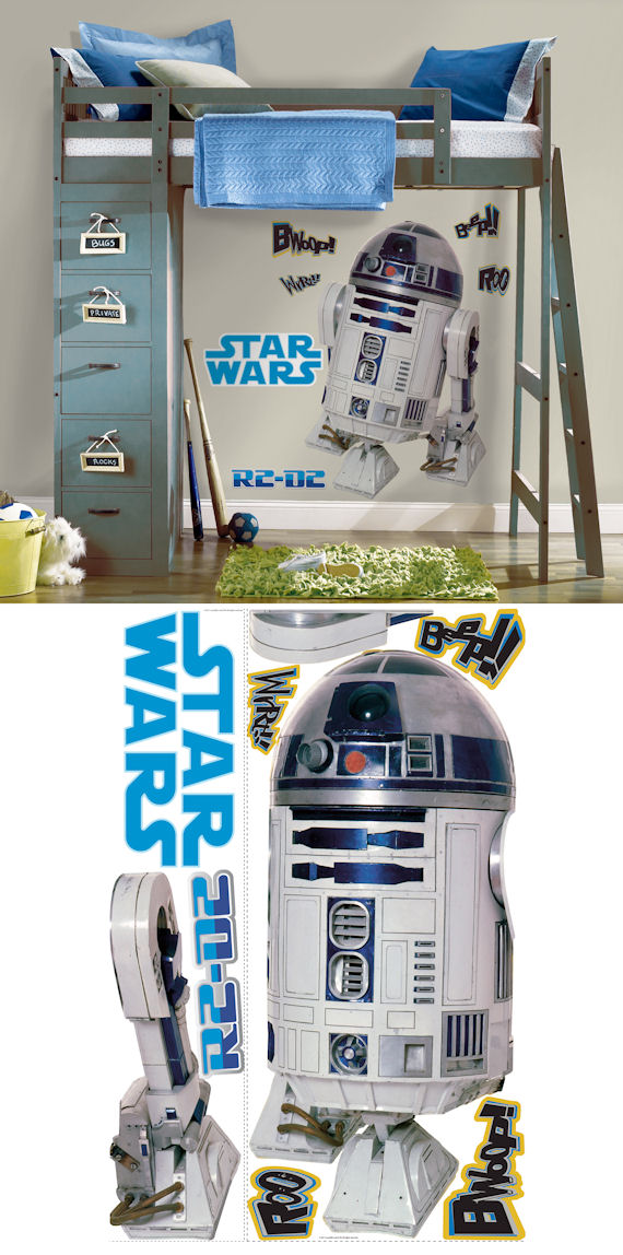 Star Wars R2 D2 Giant Wall Sticker - Wall Sticker Outlet