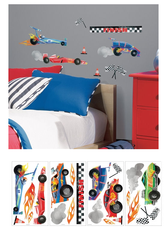 Racing Cars Wall Decals - Wall Sticker Outlet