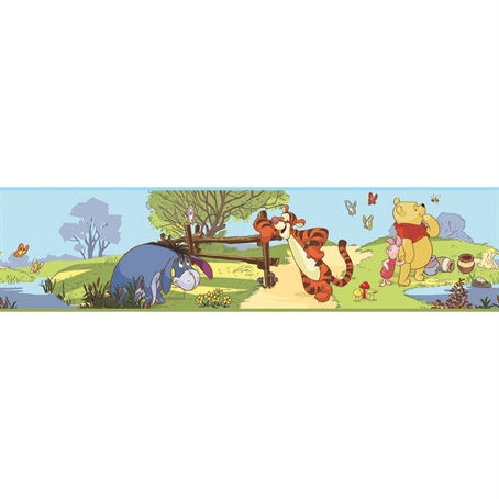 Pooh and Friends Peel and Stick Border - Wall Sticker Outlet