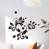 Romantic Blooms Foam Wall Stickers