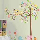Scroll Tree Mega Pack Wall Sticker Kit