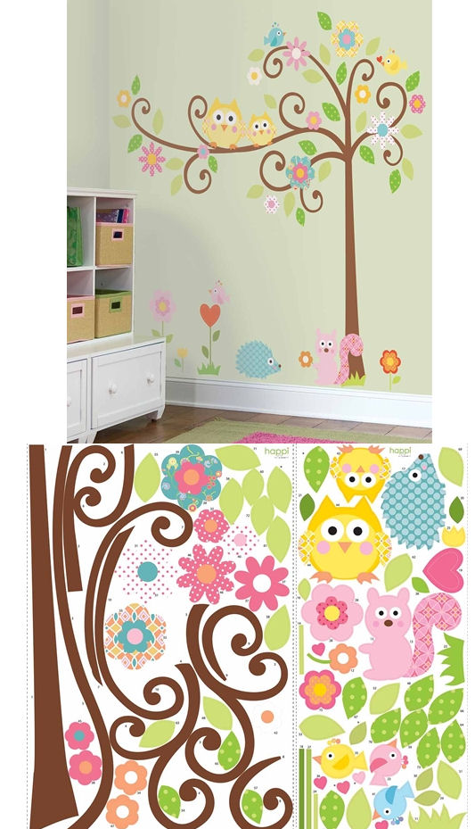 Scroll Tree Mega Pack Wall Sticker Kit - Kids Wall Decor Store