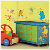 Sesame Street Peel and Stick  Wall Stickers
