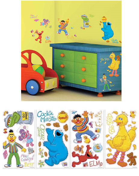 sesame street wall decals a wall decal. Black Bedroom Furniture Sets. Home Design Ideas