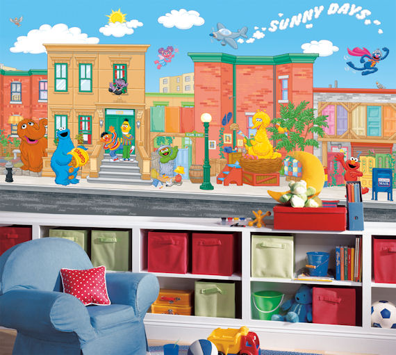 Sesame Street  XL Mural 10.5 x 6 Feet - Wall Sticker Outlet