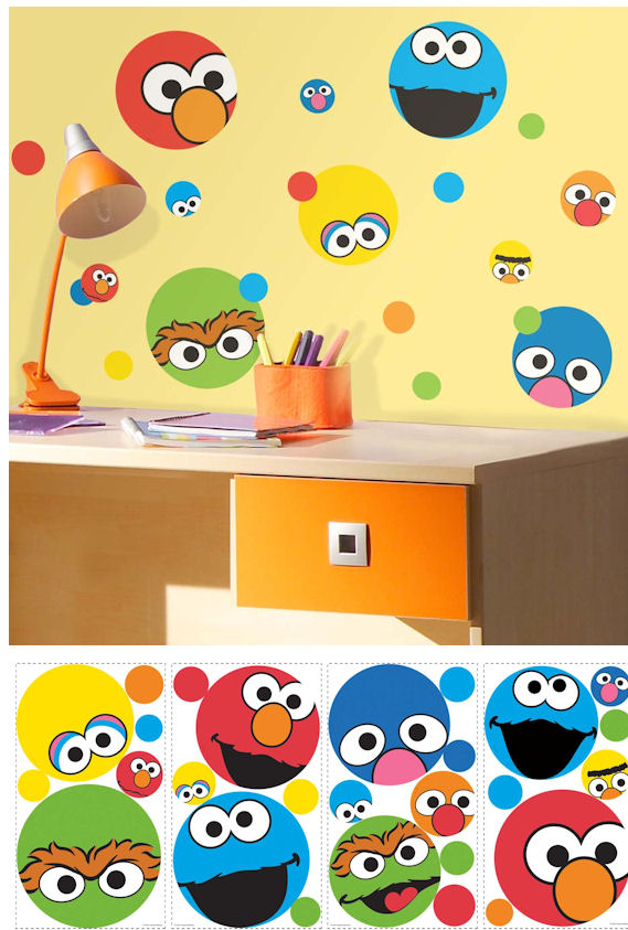 Sesame Street Dot Peel and Stick Wall Decals SALE