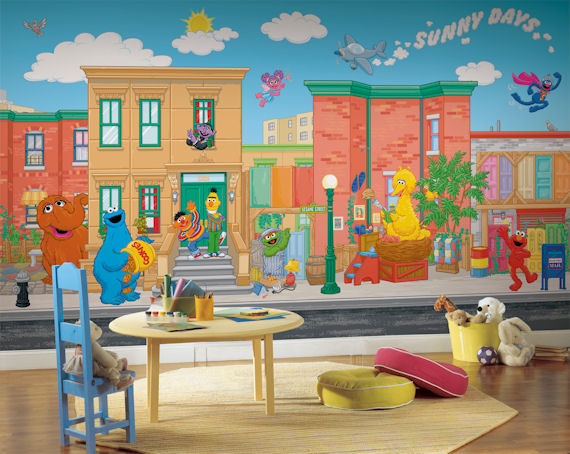 Sesame Street Xl 9 X 15 Full Wall Mural Sale