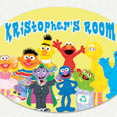 Sesame Street Gang Custom Name Wall Decal