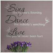 Sing Dance Love Peel and Stick Decal