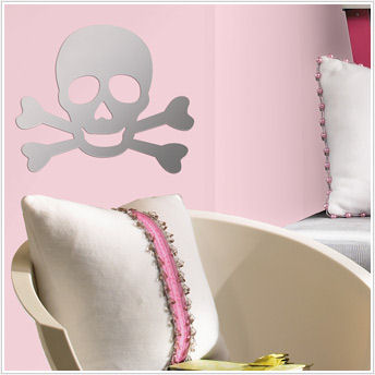 Skull Peel and Stick Mirror SALE - Wall Sticker Outlet