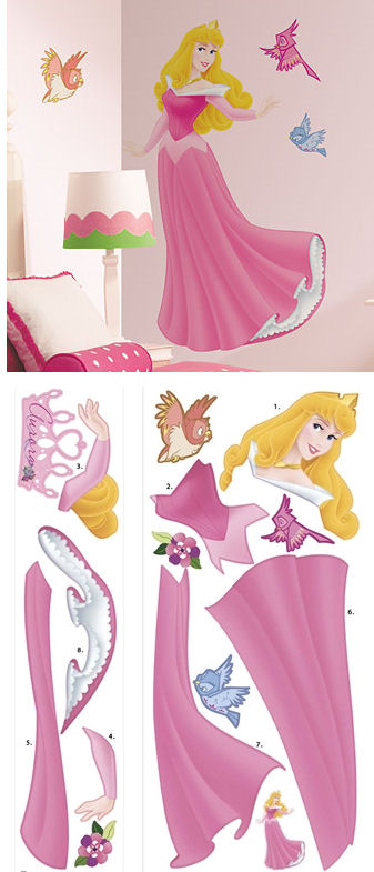Disney Sleeping Beauty Jeweled Giant Wall Sticker - Kids Wall Decor Store