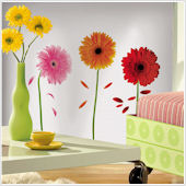 Small Gerber Daisies Wall Stickers
