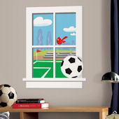 Soccer Practice Window Wall Sticker SALE