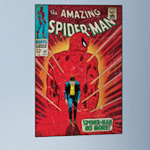 SpiderMan Walking Away Comic Book Cover Sticker