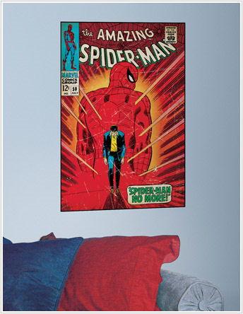 SpiderMan Walking Away Comic Book Cover Sticker - Wall Sticker Outlet