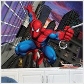 Spiderman XL Prepasted  Chair Rail Wall Mural