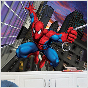 spiderman xl prepasted chair rail wall mural wall sticker outlet